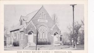 Main Street Baptist Church (Exterior), Boonville, Indiana, 1920-1940s