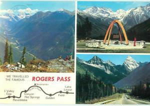 Rogers Pass Alberta British Columbia Canada Trans Can Highway  Postcard  # 7927