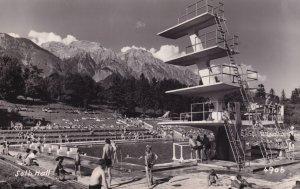 Solbad Hall Hotel Swimming Pool Austria Real Photo Postcard