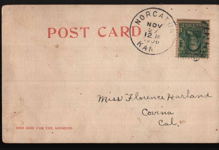 Norcatur KS Covina CA Florence Harland Colorado Royal Gorge Vintage Postcard B06