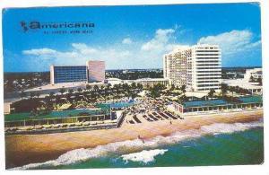 Americana, Hotel, Bal Harbour, Miami Beach, Florida, PU-1964