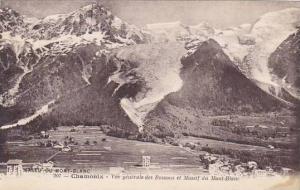 France Chamonix Mont Blanc Chalet des Bossons et Massif du Mont Blanc