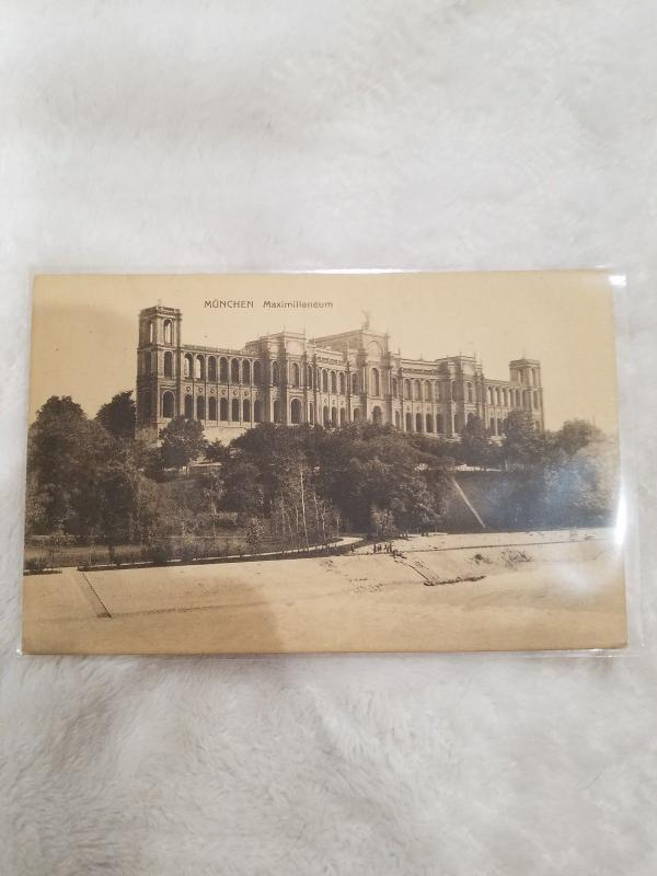 Antique Postcard, Munchen, Maximilianeum