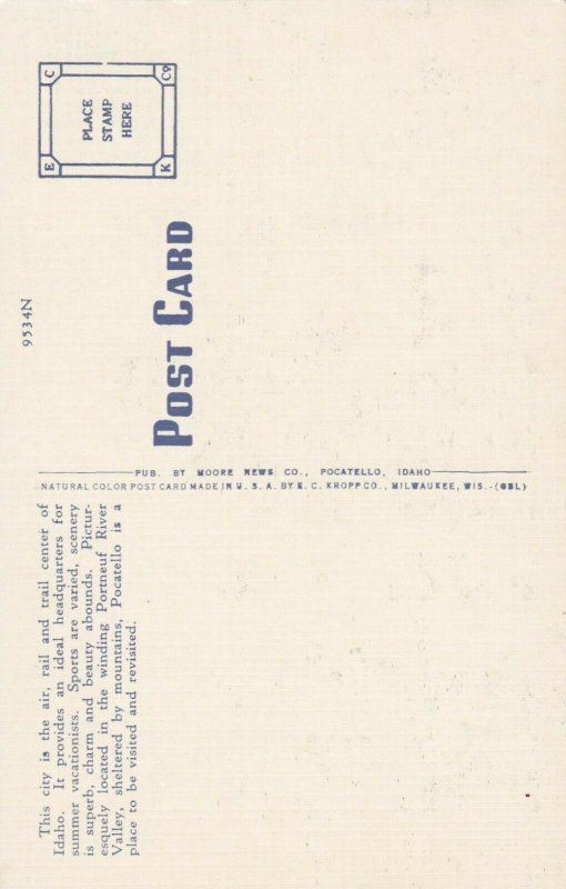 POCATELLO , Idaho , 1930-40s ; Eighth Green , Ross Park , Golf