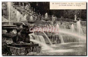 Saint CLoud Old Postcard The Large water park the big waterfall dragon