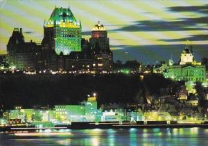 Canada Quebec La Cite At Dusk