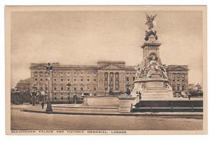 UK London Buckingham Palace Victoria Memorial England Vntg Heskett Postcard