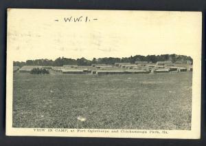 Fort Oglethrope/Chickamauga Park,Georgia, GA Postcard,1918!