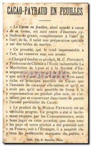 Chromo Chocolate Cocoa Payraud Payraud sheet