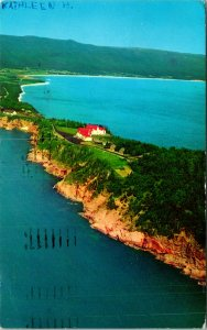 Keltic Lodge Ingonish Cape Breton Canada Postcard used 1966