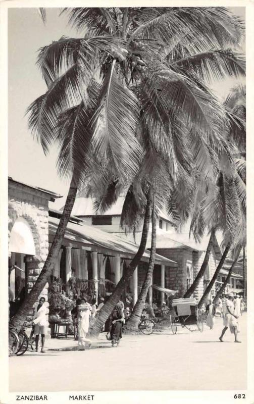 Zanzibar Africa Market Real Photo Antique Postcard J72579