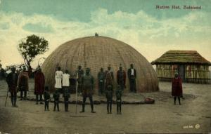 south africa, ZULULAND, Native Zulu Hut (1910s) Postcard