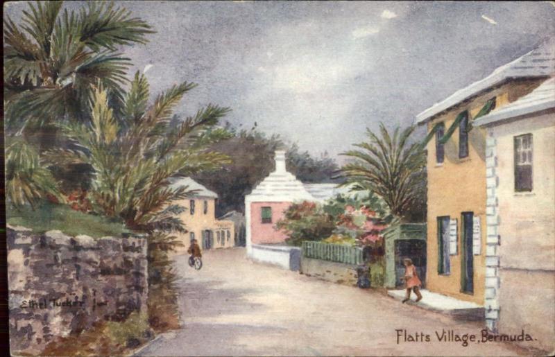 Bermuda - Ethel & CF Tucker View Postcard/Card - Flatts Village