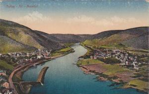 Aerial View of Bullay, Alf, Moseltal, Rhineland-Palatinate, Germany, 10-20s