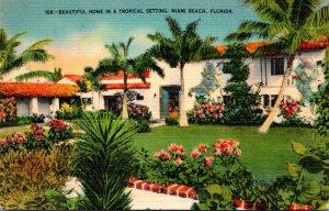 Florida Miami Beach Typical Beaautiful Home In A Tropical Setting