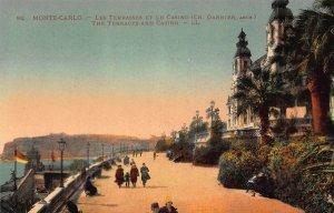 Monte Carlo The Terrace and Casino Promenade Postcard