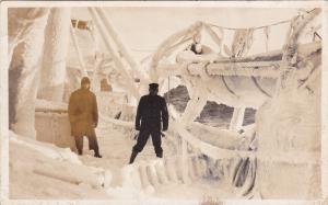 RP: Winter on Board Coast Guard Cutter UNALGA , Bering Sea , Alaska , 00-10s