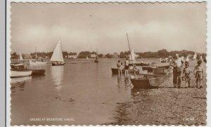 Hampshire; Sailing At Mudeford, Nr Christchurch RP PPC, 1958 To J Hutley, Ropley