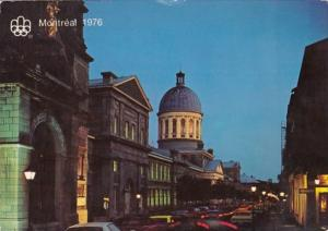 Canada Montreal Bonsecours Market Building St Paul Street At Night
