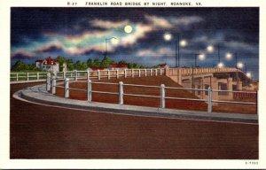 Virginia Roanoke Franklin Street Bridge By Night