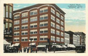 Freeport Illinois~Tarbox Block~Clothing Store~Ladies Shopping~Trolley~1915 PC