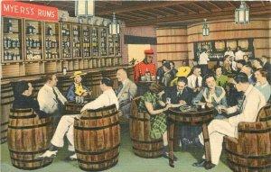 Caribbean Jamaica Myers Liquor 1940s Postcard Planters Punch Teich 21-3486