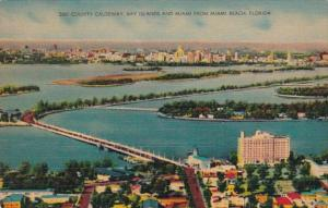 Florida Miami Beach County Causeway Bay Islands and Miami From Miami Beach