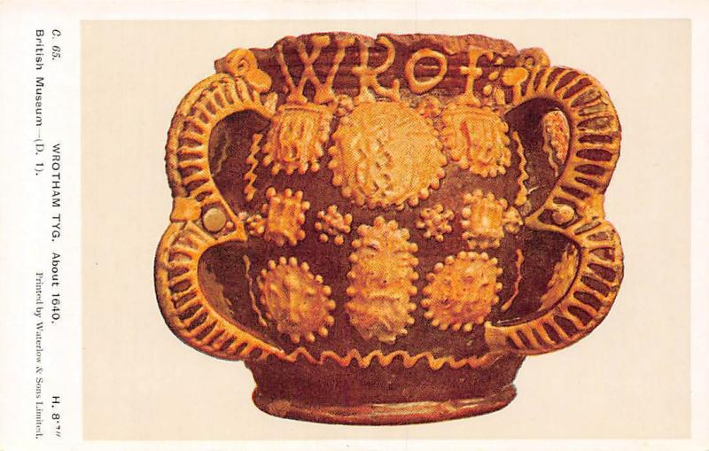Wrotham Tyg, About 1640, British Museum, London, Art, Postcard