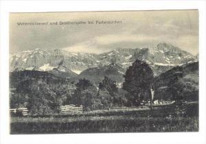 Wettersteinwand und Dreithorspitze bei Partenkirchen , Germany , 00-10s