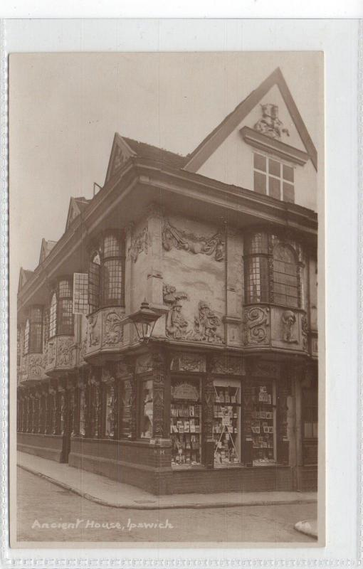 IPSWICH = RP type of The Ancient Houses, etc. SHOP FRONT. Books, Postcards. MINT