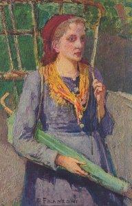 F FRANZONI , Paesana , Female Portrait , PU-1922