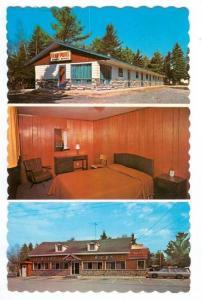 3-Views, Motel and Restaurant Kenny, Rawdon, Quebec, Canada, PU-1976