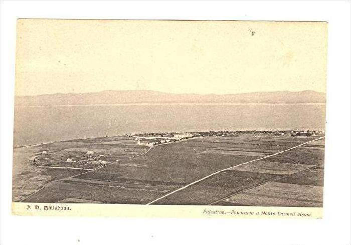 Palestina.-Panorama a Monte Carmeli visum, 1890s-1905