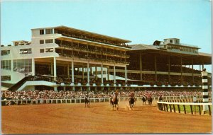 Monmouth Park Jockey Club - Harness racing Oceanport New Jersey postcard