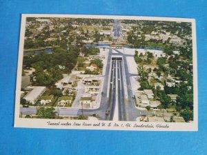 VTG UNUSED POSTCARD.TUNNEL UNDER NEW RIVER,FT.LAUDERDALE,FL.