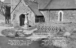 We are Seven, Grave and Old Sundial in Churchyard 1950