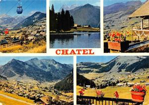 France Chatel Hte Savoie, Cable Car Village Fountain Panorama Mountain