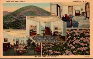 North Carolina Asheville Princess Anne Hotel Curteich