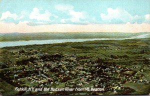 New York Fishkill and Hudson River From Mt Beacon