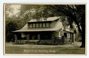 Postcard Burlington Country Club Real Photo Postcard Standard View Card