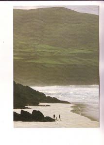 People on Beach, Slea Head and Cumeenoole Strand, Co. Kerry, Ireland, Real Ir...
