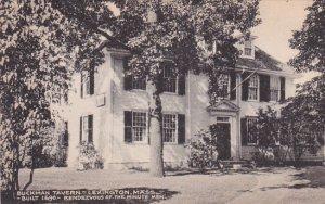 Massachusetts Lexington Buckman Tavern Built 1690 Rendezvous Of The Minute Men