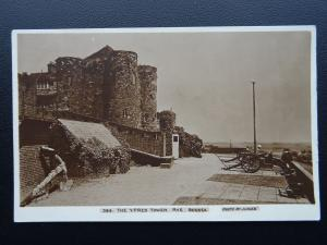 Sussex RYE The Ypres Tower shows Cannon & Anchor c1908 RP Postcard Fred Judges