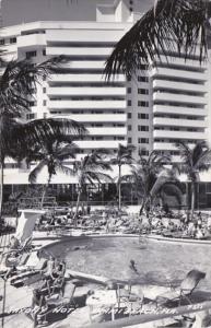 Florida Miami Beach The Saxony Hotel & Swimming Pool Real Photo