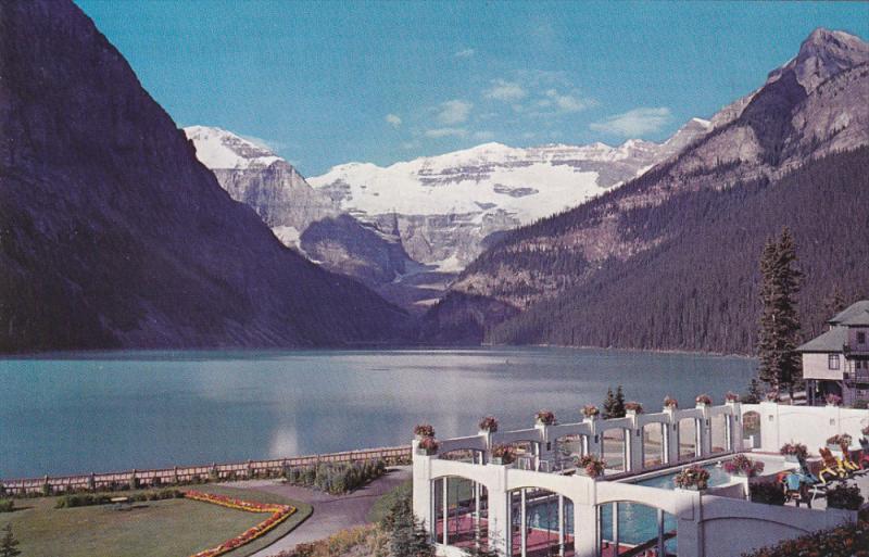Swimming Pool, Canadian Rockies, LAKE LOUISE, Alberta, Canada, 40-60's