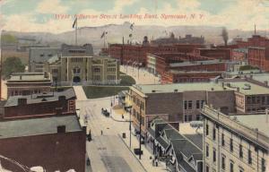 West Jefferson Street Looking East, Syracuse, New York, PU-1911