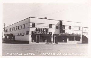 RP: Hill's Drug Store & Mayfair Hotel/Coffee shop,Portage La Prairie , Manitoba