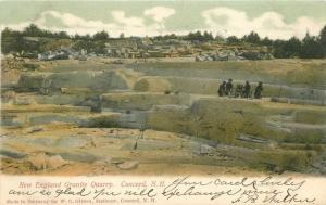Concord New Hampshire 1906 Mining New England Granite Quarry Gibson 5576