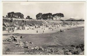 Caernarvonshire; The Sands, Llanbedrog, Pwllheli 15534 RP PPC, c 1950's, Unused