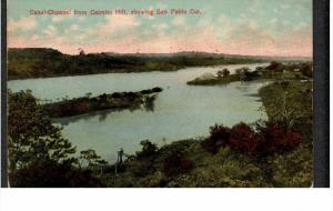Panama; Canal-Channel from Caimito Hill, showing San Pablo Cut, PU-1914